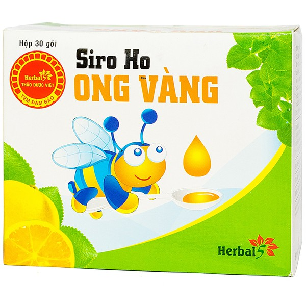 Siro Ho Ong Vàng Herbal 30 Gói X 5Ml